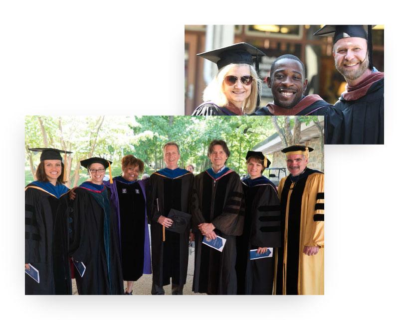 Professors and graduates