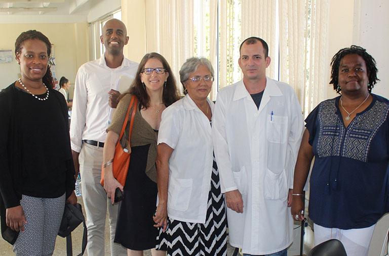 Yaphet Getachew and healthcare workers